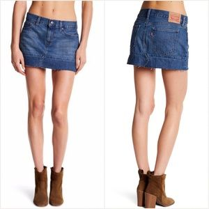 Levi's seamed denim mini skirt